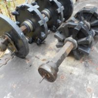 Mini sled front axle