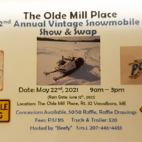The Olde Mill Place 2nd Annual Vintage Snowmobile Show and Swap